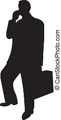 geschäftsmann, vektor, silhouette
