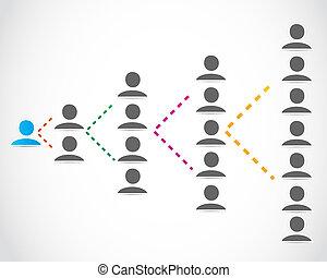 geschäftsmenschen, networking