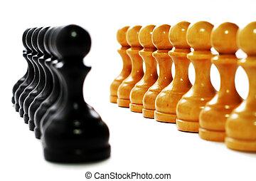 geschäftsstrategie, -, schach