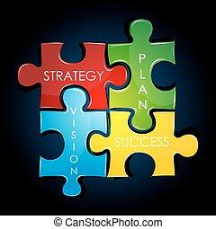 geschäftsstrategie, und, plan