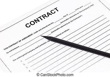 geschäftsvertrag, abkommen