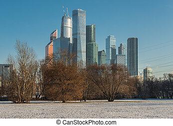 geschäftszentrum, moscow-city.