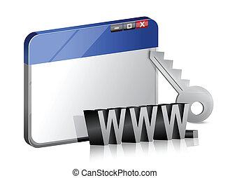 geschützt, internet browser