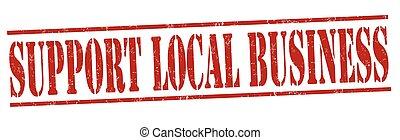 geschaeftswelt, briefmarke, unterstuetzung, zeichen, lokal, oder