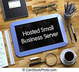 geschaeftswelt, concept., server, tafel, hosted, klein, 3d.