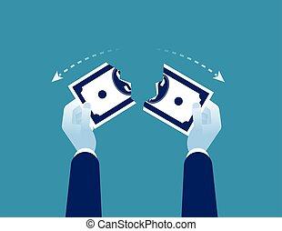 geschaeftswelt, dollar., währung, begriff, illustration., ...