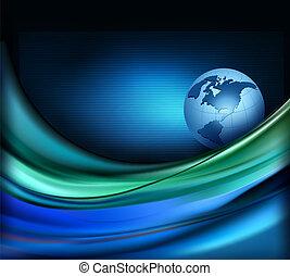 geschaeftswelt, elegant, abstrakt, hintergrund, mit, globe.,...