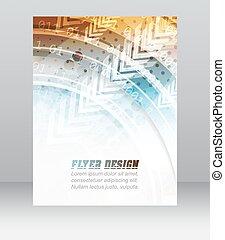 geschaeftswelt, korporativ, abstrakt, decke, muster, flieger, design, schablone, technologisch, banner, oder