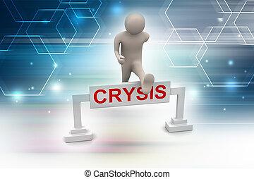 geschaeftswelt, krise, überwinden, mann