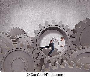 geschaeftswelt, mechanismus, system