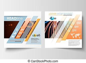 Quadratische farbe, abstrakt, neon, design, blank., blättchen ...