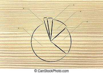 geschaeftswelt, stats:, kreisdiagramm, schaubild