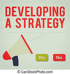 geschaeftswelt, text, megaphone., anblick-konzept, ideen, planung, entwickeln, taste, rotes , vortrag halten , auswahl, schreibende, leer, wort, ziel, blase, strategy., besprechen, ja, grün, marketing, neu , nein
