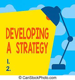 geschaeftswelt, text, vision, licht, ideen, planung, tisch, entwickeln, begrifflich, foto, anhänger, balken, raum, zeichen, lampenschirm, ziel, verstellbar, strategy., besprechen, strahl, ausstellung, marketing, neu , text.