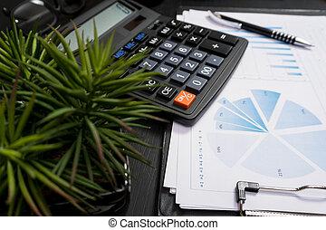 geschaeftswelt, und, der, finanziell, berichte, a, arbeitsplatz