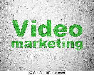 geschaeftswelt, wand, marketing, video, hintergrund, concept: