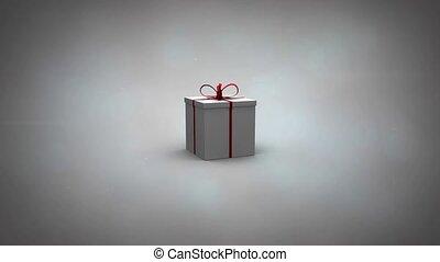geschenk, abbildung, video, aufdecken