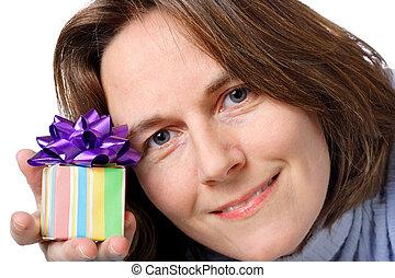 geschenk, für, sie