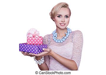 geschenk, geschenk, frauen