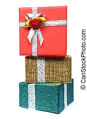 geschenk, stapel