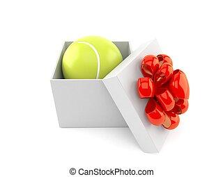 geschenk, tennisball, innenseite