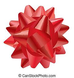 geschenk, (vector), schleife