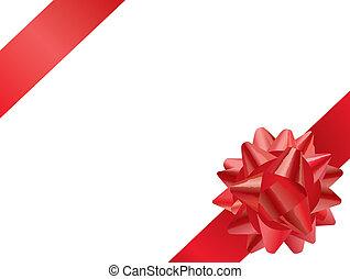 geschenk verbeugung, (illustration)