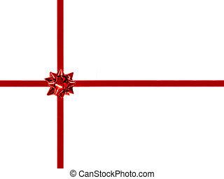 geschenk verbeugung, und, geschenkband