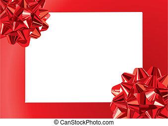 geschenk, verbeugungen, rahmen, (vector)