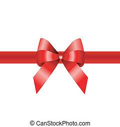 geschenkband, banner, rotes