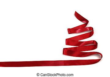 geschenkband, weihnachtsbaum