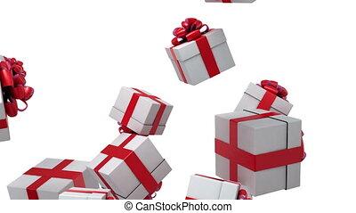 geschenke, fallender