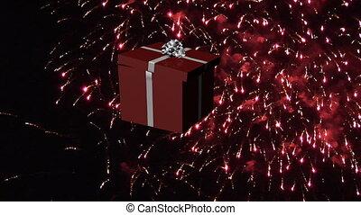 geschenke, fallender , weihnachten, -3, 3d