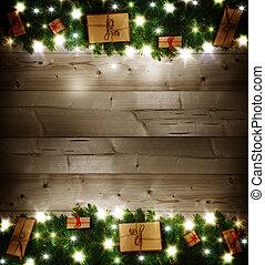 geschenke, hintergrund, weihnachten