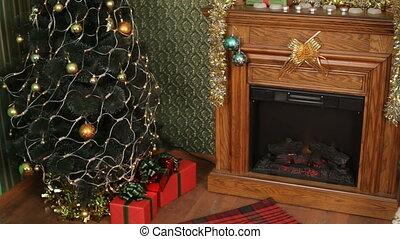geschenke, verstecken, vorabend, weihnachten