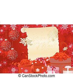 geschenke, weihnachten, hintergrund