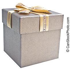 geschenkschachtel, freigestellt, weiß
