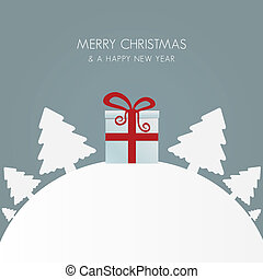 geschenkschachtel, rotes weiß, weihnachtsbaum