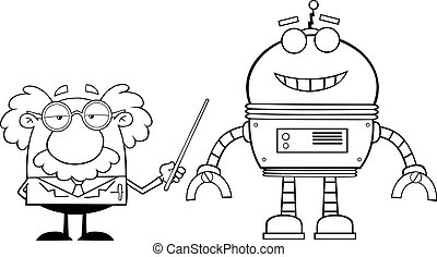 geschetste, professor, robot