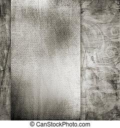gescheurd, achtergrond., papier, oud, textuur