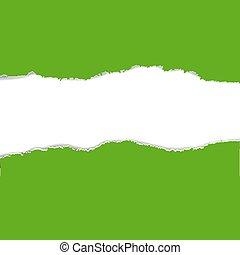 gescheurd document, groene