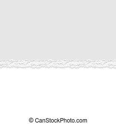 gescheurd document, vector, achtergrond, verdeler, afgescheurde, of, grijs