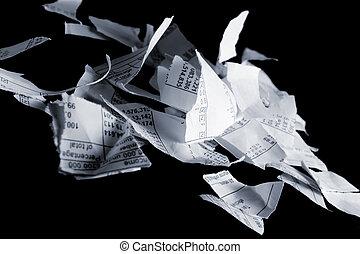 gescheurd, financieel, diagrammen