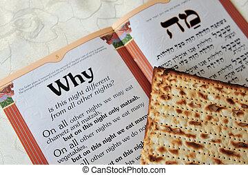 geschichte, uralt, blatt, israeliten, heilig, festival.,...
