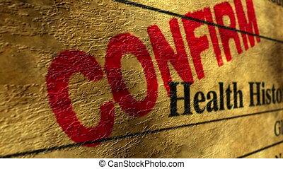 geschiedenis, gezondheid, bevestigen