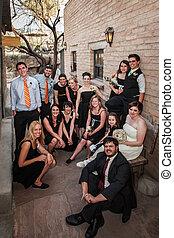 geschlecht, gruppe, gleich, wedding