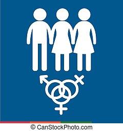 geschlecht, ikone, design, abbildung, leute