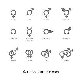 geschlecht symbol, heiligenbilder