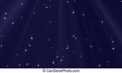 geschlungen, lichter, und, sternen, hintergrund