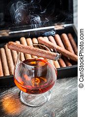 geschmack, kognak, zigarre, aroma